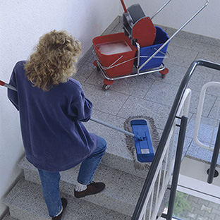Cleaning buildings